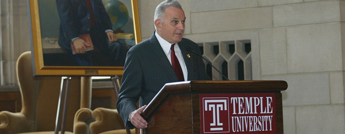 Temple mourns the loss of former Dean and University President Peter J. Liacouras